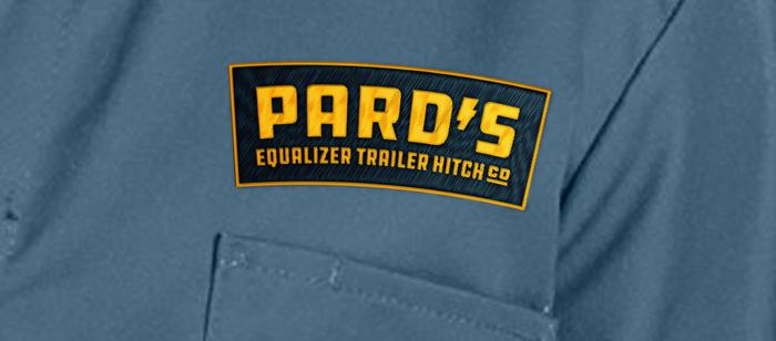 Pard's Logo on a work shirt